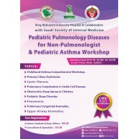Pediatric Pulmonology Diseases For Non-Pulmonologist & Pediatric Asthma Workshop